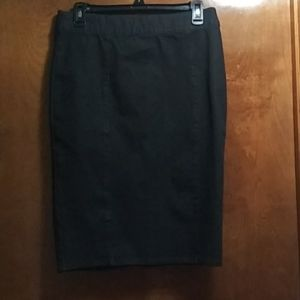 Black CHAPS Denim Pencil Skirt